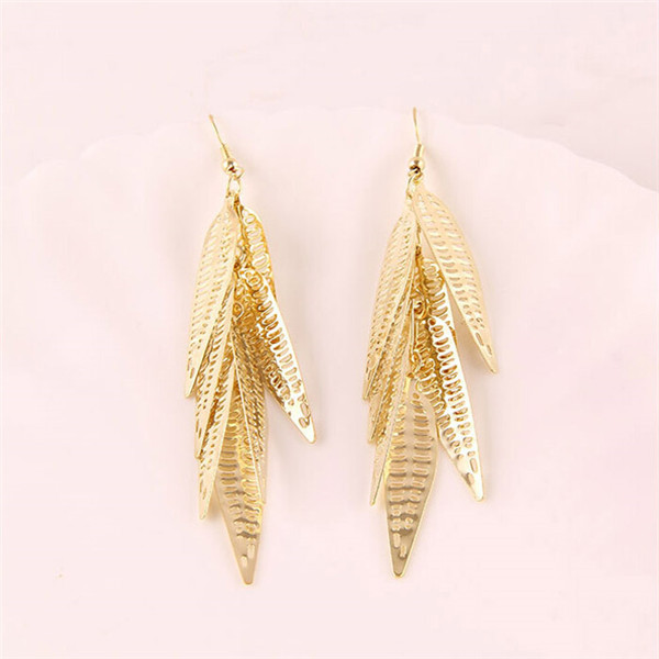 2017 new arrival fashionable 22k light weight gold earring arabic