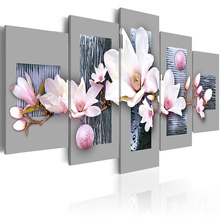5 pieces/set Flower series Picture Print Painting On Canvas Wall Art Home Decor Living Room PJMT-B (156)
