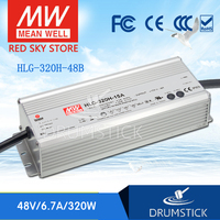 Selling Hot MEAN WELL HLG 320H 48B 48V 6.7A meanwell HLG 320H 48V `321.6W Single Output LED Driver Power Supply B type
