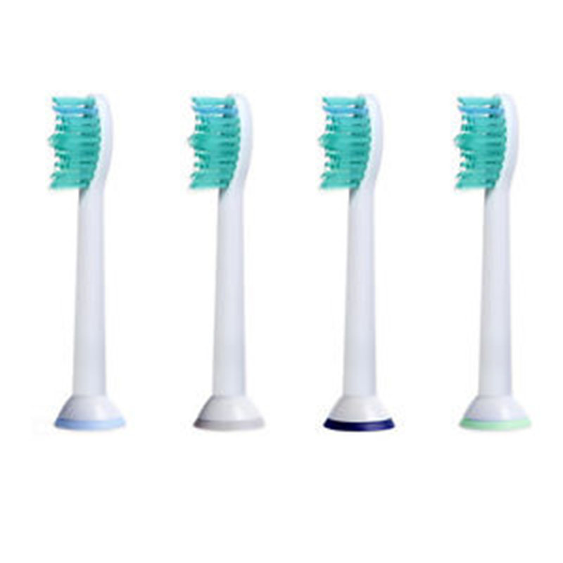 4pcs Best Generic Electric Sonic Replacement Brush Heads For Philips Sonicare Proresult Toothbrush Heads Soft Bristles HX6014 image