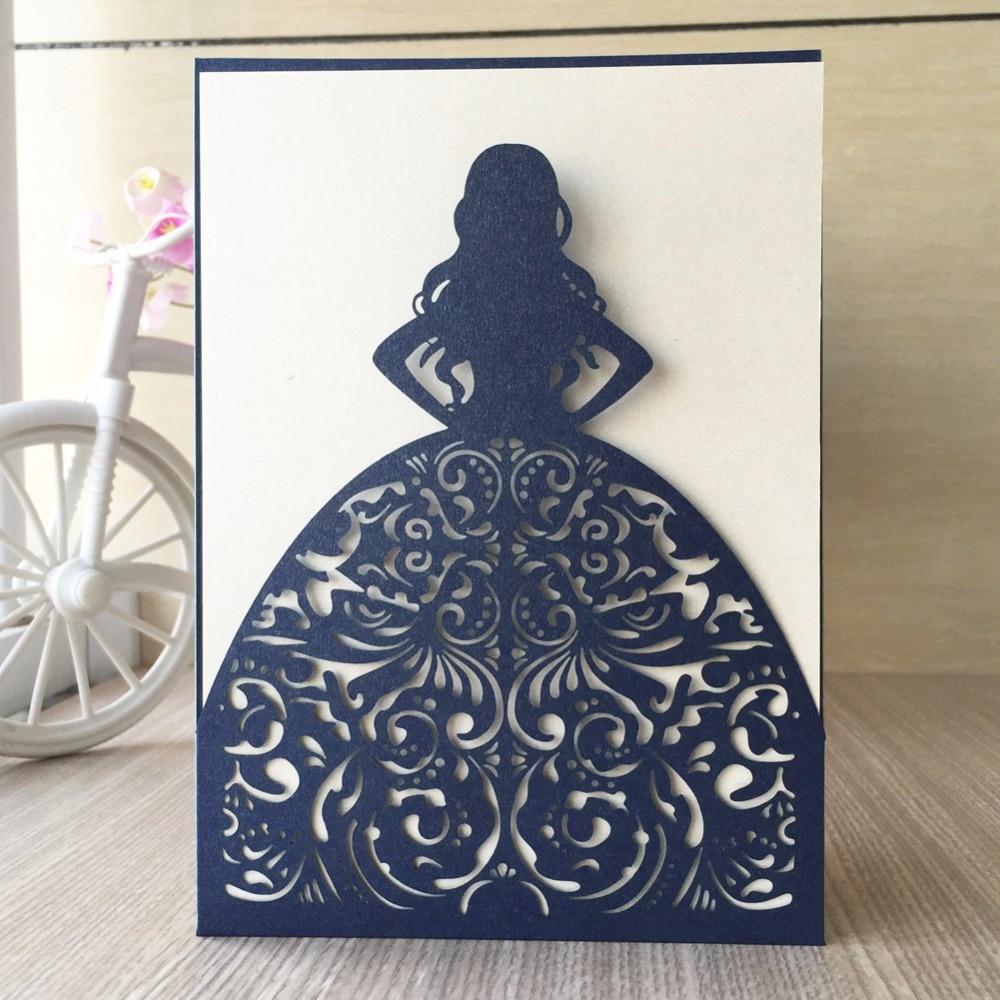 20pcs   lot laser cut paper craft pretty bride elegant girl