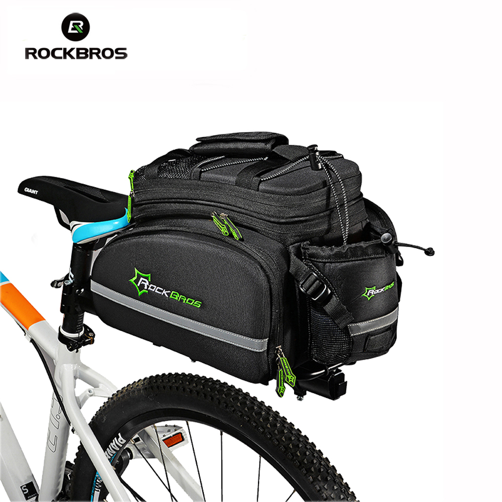 ROCKBROS Bicycle Bag Outdoor Cycling Bike Bag Multifunctional Cycling Frame Rack Pack Large Capacity Travel Bicycle Accessories rockbros large capacity bicycle camera bag rainproof cycling mtb mountain road bike rear seat travel rack bag bag accessories
