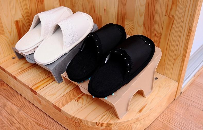 8998dce60a252 النمط الياباني شماعات ص الراتنج المواد حذاء تخزين الرف تخزين المنزل قطعة  واحدة تصميم الحذاء الحذاء الرف شبه منحرف واحد