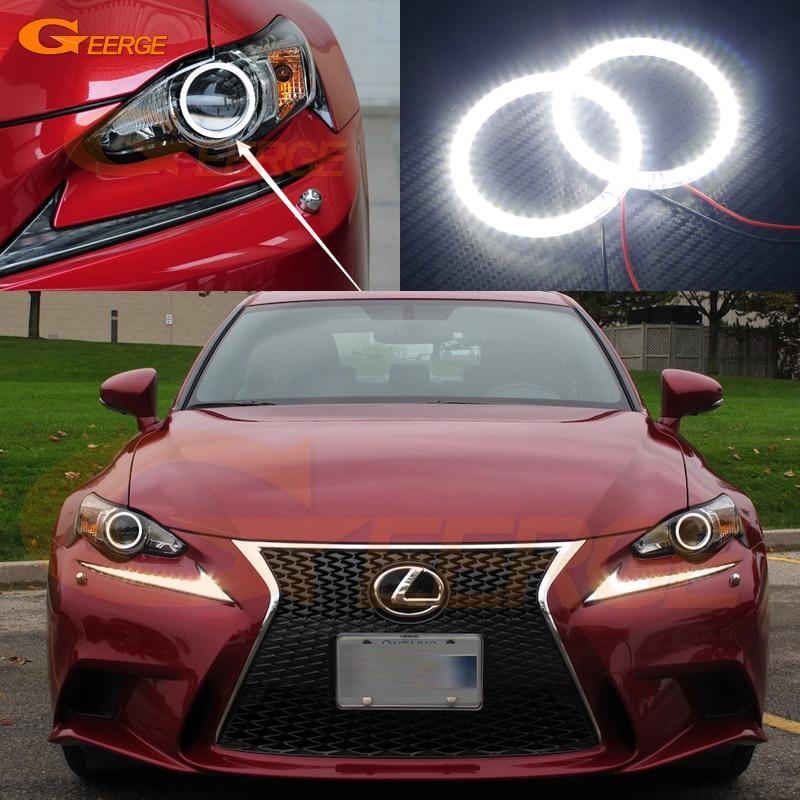Для Lexus is350 для is250 по ИСФ 2014 2015 HID-фары отлично Ультра-яркий освещения SMD из светодиодов глаза Ангела гало кольцо комплект