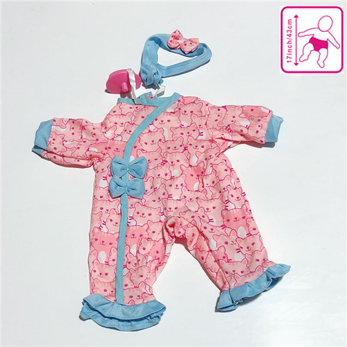 Fashion Clothes Suit Fit 43cm/17inch Doll Accessories, Children best Birthday Gift(only sell clothes)