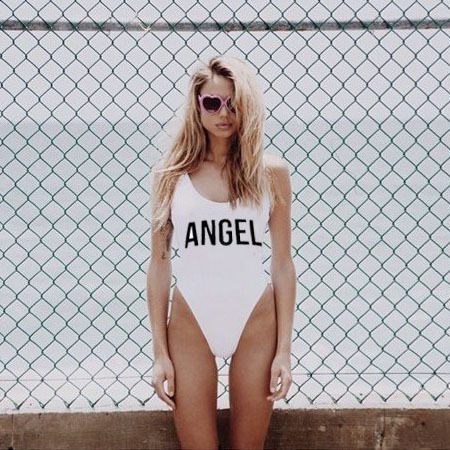 Billiger Preis Angel Baby Body Frauen Sexy Backless Badeanzug Fashion Bademode Overall-spielanzug Badeanzüge Einem Stück