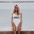 Angel Baby Bodysuit Women Sexy Backless Swimsuit Fashion Swimwear Jumpsuits Rompers Bathing Suits One Piece