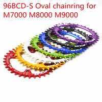 Deckas ovale Corona MTB Mountain bike catena della bicicletta anello BCD 96 millimetri 32/34/36/38T piastra 96BCD-S per 7-11 velocità M7000 M8000 M9000