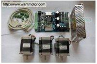 Cheap CNC Wantai 3 Axia Nema 23 Stepper Motor 57BYGH633 270oz In 3 Axis Driver Board