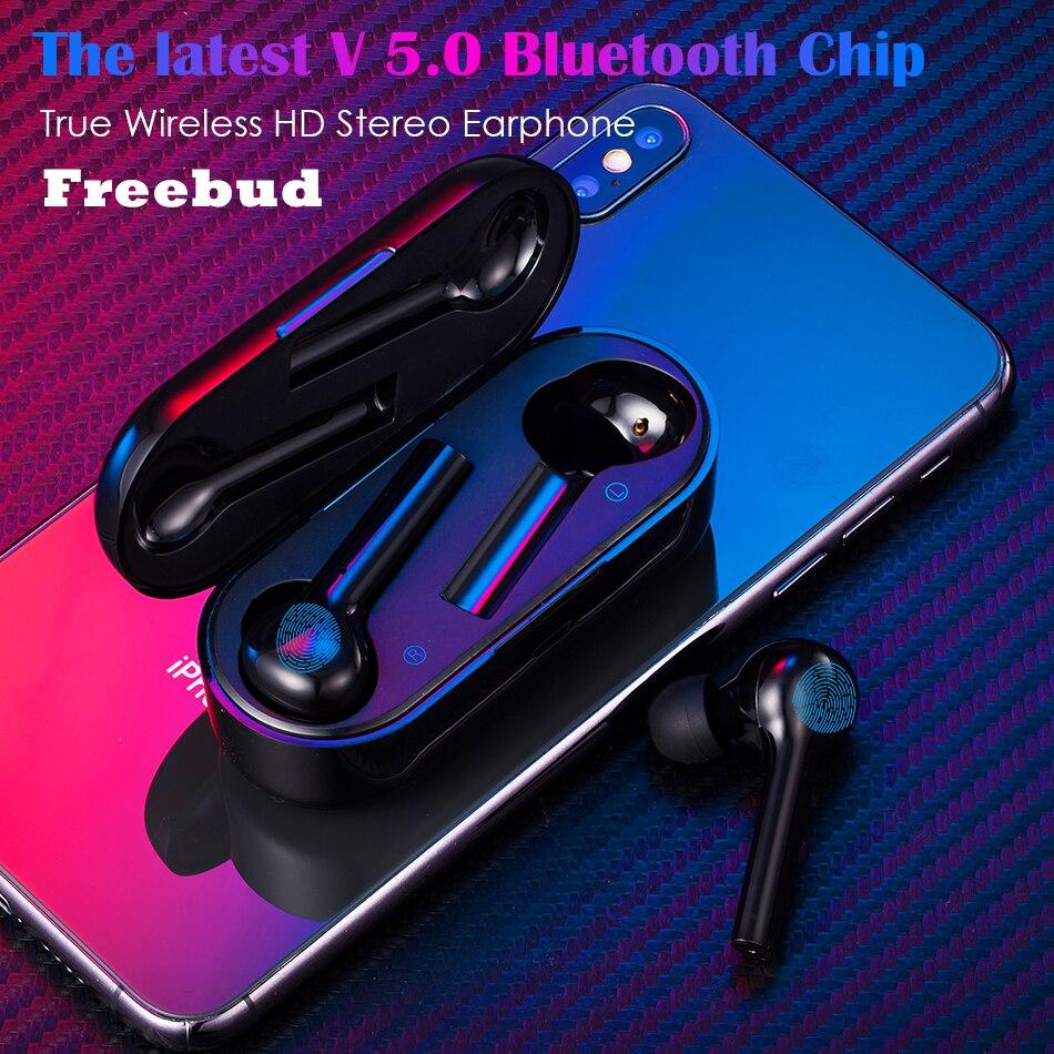 Freebud Palpable 5.0 écouteurs bluetooth HD Stéréo TWS Sans Fil Écouteurs Bruit-Annulation écouteurs pour iphone xiaomi