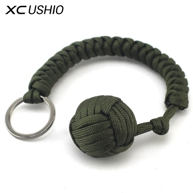 Military Self-Rescue Survival Bracelet Emergency Paracord Rope Parachute Cord Emergency Key Ring Camping Hiking Tool Kit