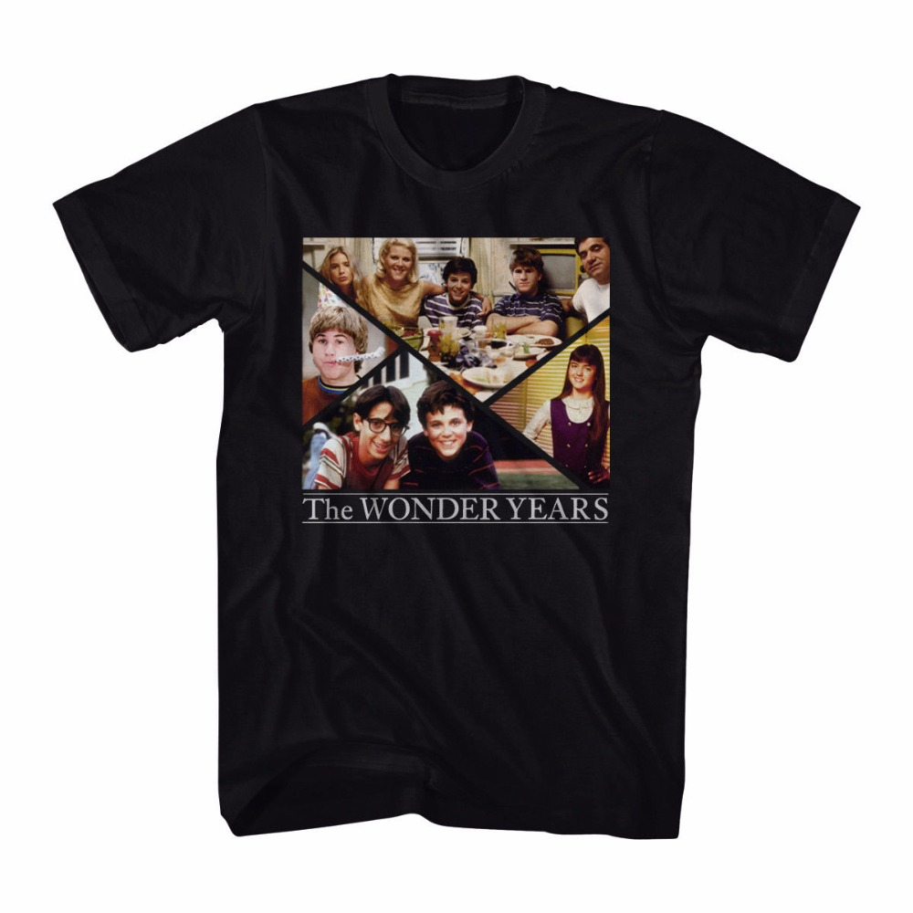 Funny Design Office The Wonder Years Family Collage Mens Black T-Shirt New Sizes S To 3XL O-Neck Short-Sleeve Mens Tee