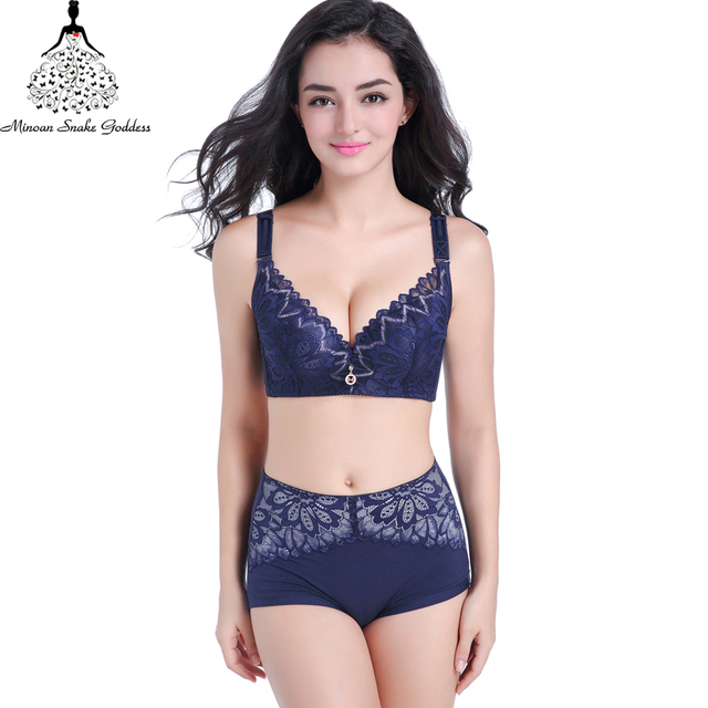 211e48fe453 Lace Lingerie Set Plus Size Push Up Bra And Panty Set Sexy Lace Large Cups Intimate  Women Underwear Bra Set Bra Brief CD Cups