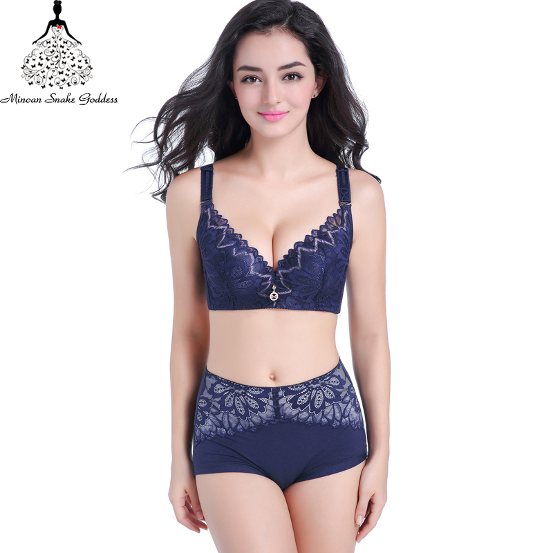 Lace Lingerie   Set   Plus Size Push Up   Bra   And Panty   Set   Sexy Lace Large Cups Intimate Women Underwear   Bra     Set     Bra     Brief   CD Cups