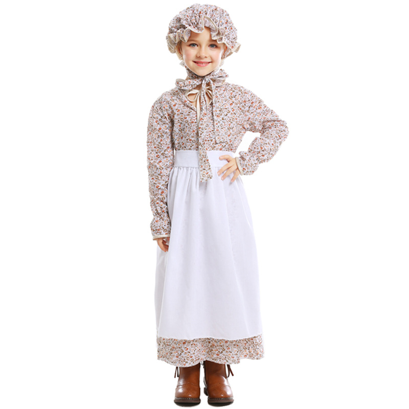 Halloween Girl Cosplay Dresses Cute Fairy Tale Big Bad Wolf Auntie Costume Grandma Cosplay Gown Dress Fancy Party Stage Dress