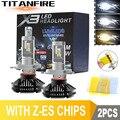 Комплект для переоборудования светодиодных фар ZK30, 2 шт./лот, лампы H1, H11, HB3, 9005, 9006, 50 Вт, 3000 лм, автомобильные фары X3 ZES, H4, 6500K/8000K/K