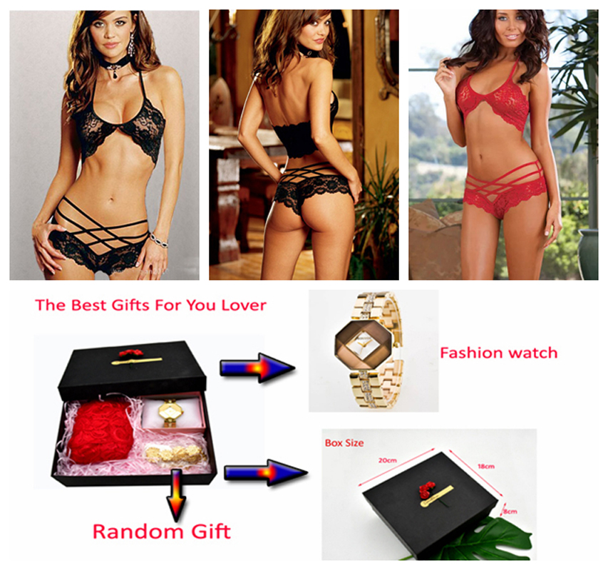 Porn <font><b>Sex</b></font> Lingerie Sexy Valentine's Day Gift Open Crotch Sexy Underwear Plus Size Lingerie Sexy Sleepwear Quartz <font><b>watch</b></font> Lover Gift image