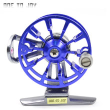 All Metal ice Fishing Reel Fly Fishing Antique Aluminum Alloy Wheel Cutting Machine Flying Coil Gear Winter fishing  reel 7215