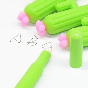 Image 4 - Lápices de Gel con forma de Cactus para hombre y mujer, bolígrafos de Gel con plumas, estilo escolar, Lapiceros Creativos, 60 uds.