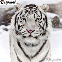 Dispaint Full Square/Round Drill 5D DIY Diamond Painting Animal tiger scenery 3D Embroidery Cross Stitch Home Decor A11083