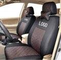 Передняя крышка 2 место для mercedes benz для w203 w204 w211 МЛ хлопок смешанные шелковый серый черный красный вышивка логотипа автомобиля сиденья охватывает