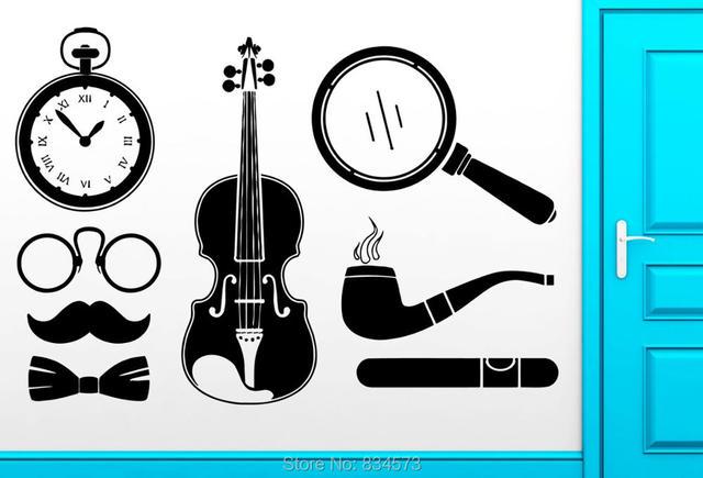Pazzo Mondo Detective Sherlock Holmes Silhouette Wall Art Stickers