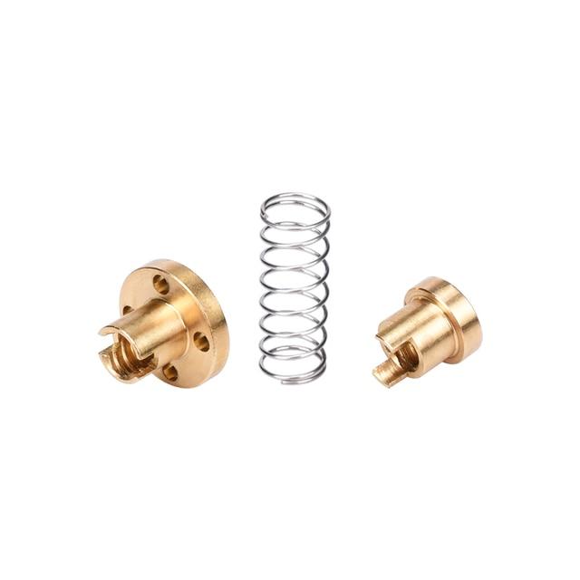 T8 Anti Backlash Spring Loaded Nut Elimination Gap Nut for 8mm Acme Threaded Rod Lead Screws DIY CNC 3D Printer Parts 1