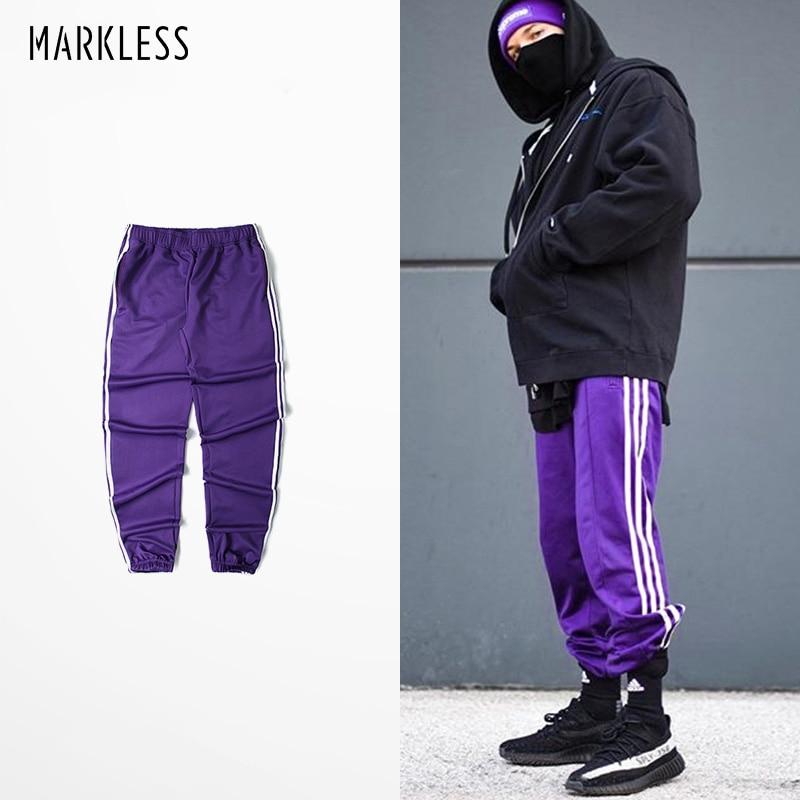 Markless Unisex Hip Hop Sweatpants 2018 Autumn Sportswear Loose Multi-color Joggers Fashion Casual Pants Pantalon Hombre XXK002