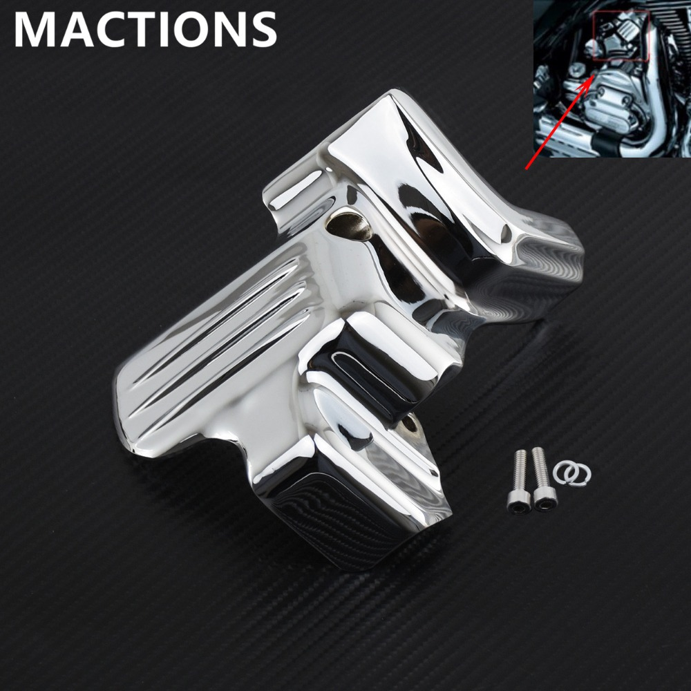 Motorcycle High Metal Chrome Starter Cover For Harley Touring FLHT FLHR FLTR FLSX 2007 2015