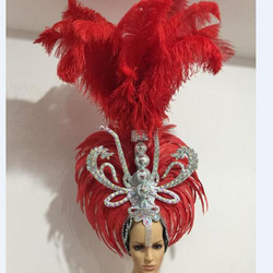 Bruin wit roze wit rood veren hoofdtooi vrouwen samba party stage show veer carnaval hoofdtooi voor vrouwen