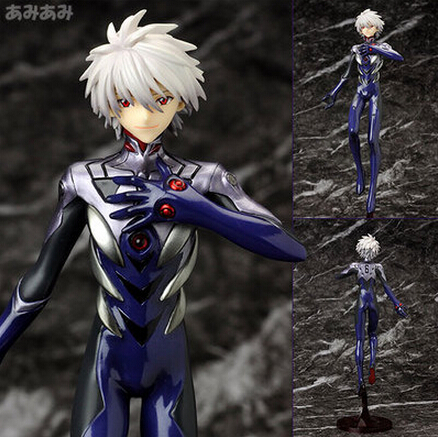 NEW hot 23cm Neon Genesis Evangelion Nagisa Kaworu action figure toys collection doll christmas toy with box new hot 19cm gintama kagura leader action figure toys collection doll christmas toy with box