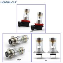 MODERN CAR Fog Lamp Bulb 2525 6SMD Chip H11 H8 H7 1157 T20 7440 3157 1156 9005 9006 Auto Light Bulbs Combo Turn Single