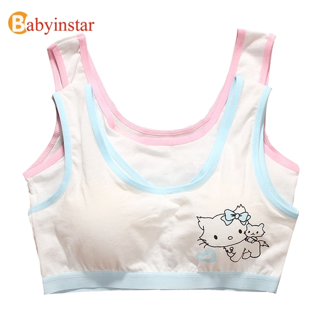 Aliexpress.com : Buy Cartoon Cat Pattern Girls Training Bras Hello ...
