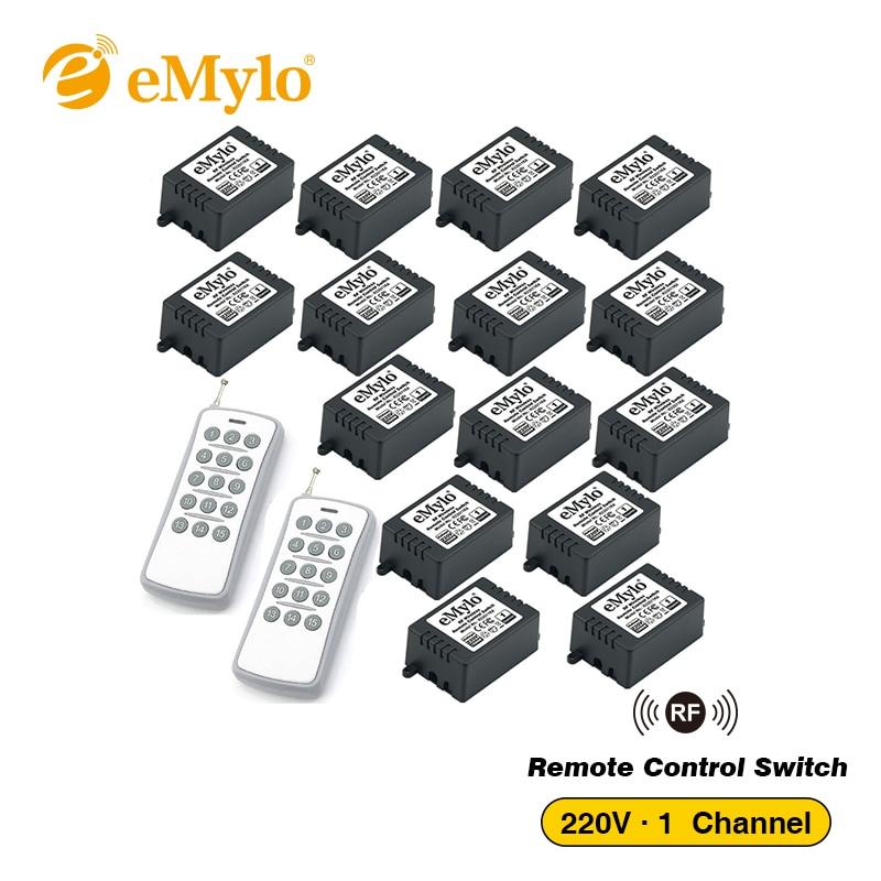 EMylo RF 433 Mhz télécommande interrupteur AC 220V-230V-240V 1000 W 2X transmetteur 15X 1Ch relais interrupteur à bascule télécommande