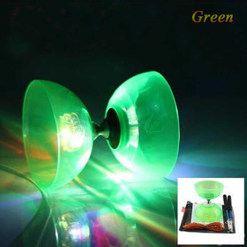 Neue Blinkende Diabolo Zwei Elastische Darm Zwei Arten VON Lager Yoyo Mini Fidget Spinner Anti-Stress Magie Yoyo Für kinder