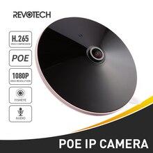 H.265 POE אודיו FHD 1920x1080 P 2.0MP ראיית לילה Fisheye פנורמי 18 LED IR IP מצלמה אבטחת ONVIF P2P IP CCTV מצלמת
