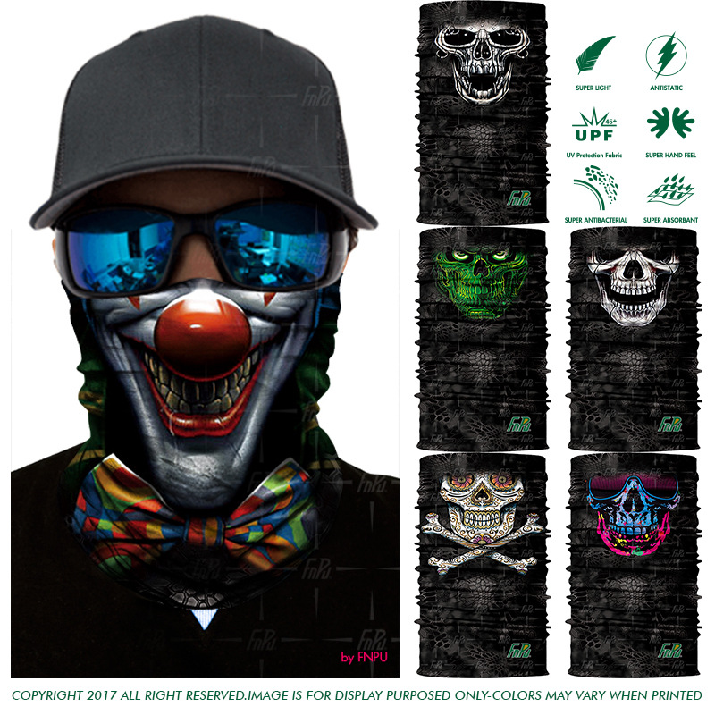 New Arrival Magic Bandana Cycling Sports Headwears Headband Face Mask Scarf Bandanas Skull Camouflage Fishing Bandanas Scarves