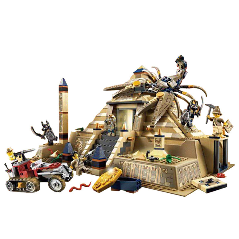 L Models Building toy Compatible with Lego L31001 822Pcs Egypt Pharaoh Blocks Toys Hobbies For Boys Girls Model Building Kits все цены