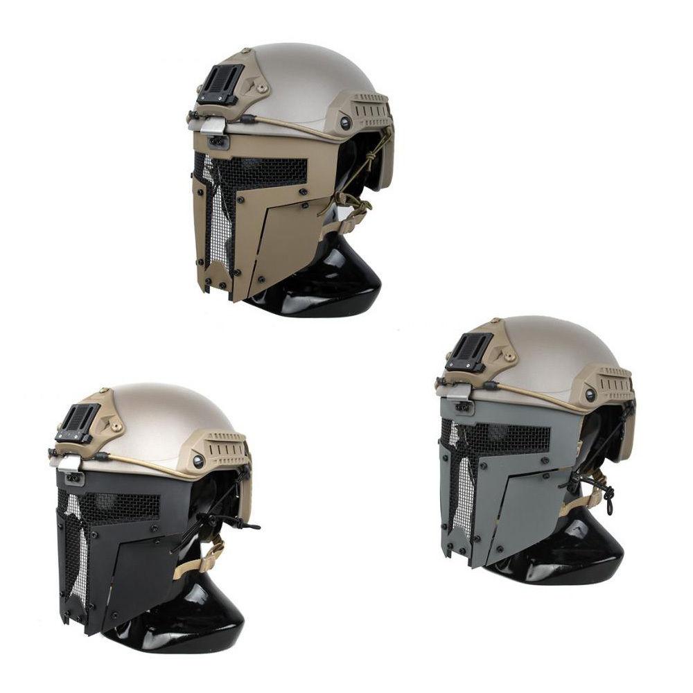 Outdoor sports helmet FMA SPT Mesh Mask Sparta Tactical Mask AF Helmet Mask 2671 CB/BK/R ...