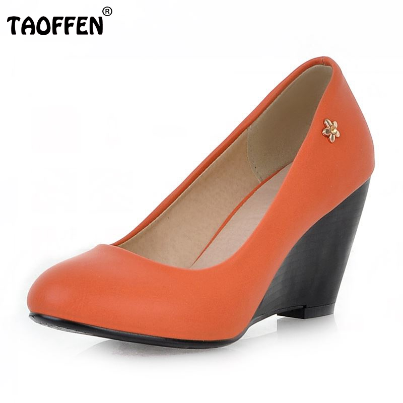 Size 34-43 Women Sexy High Heels Shoes Wedges Pointed Toe Pumps Ladies Wedding Party Shoes Women Heeled Mujer Footwear taoffen women high heels shoes women thin heeled pumps round toe shoes women platform weeding party sexy footwear size 34 39