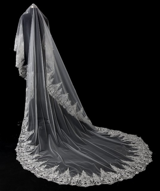 High Quality New Pattern Wedding Veil Korean Lace Bride The Parts 3 Meters