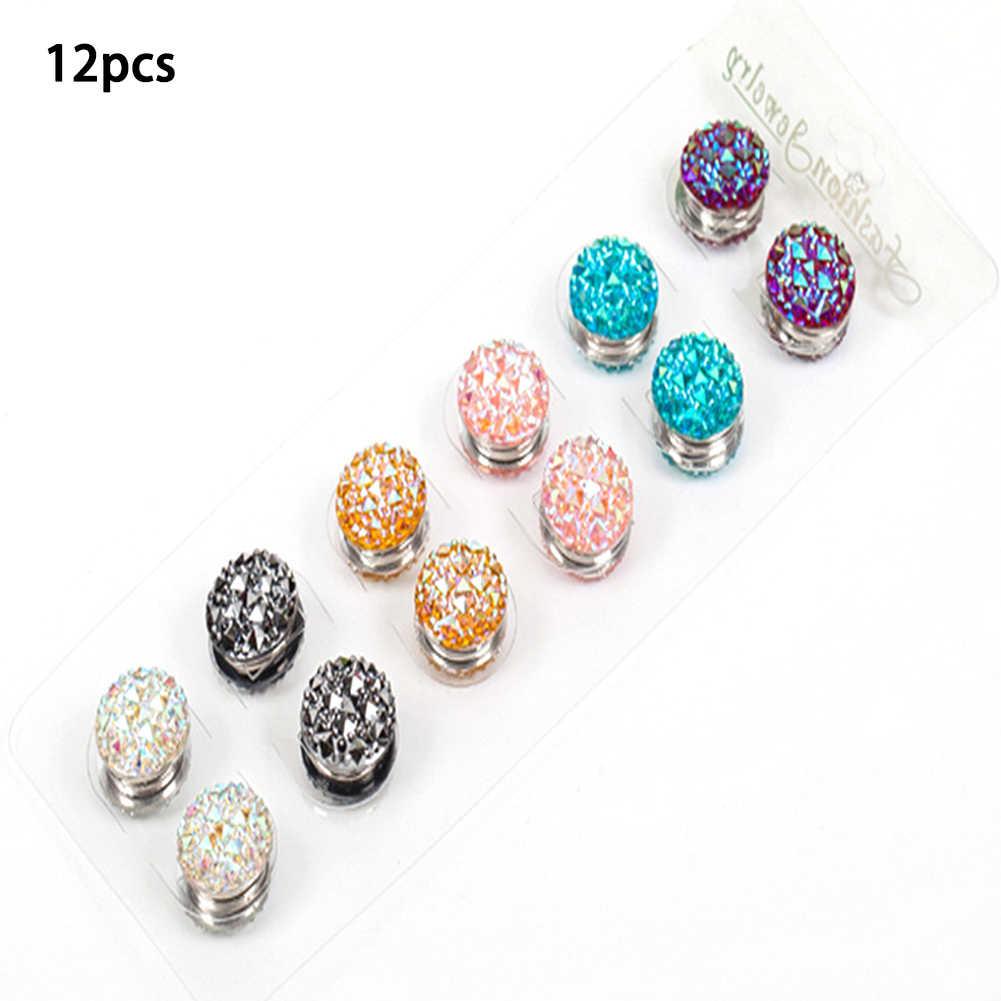1pc/12 pçs moda muçulmano abaya diamante artesanato pino magnético hijab ímã pinos cachecol forte ímã broche jóias