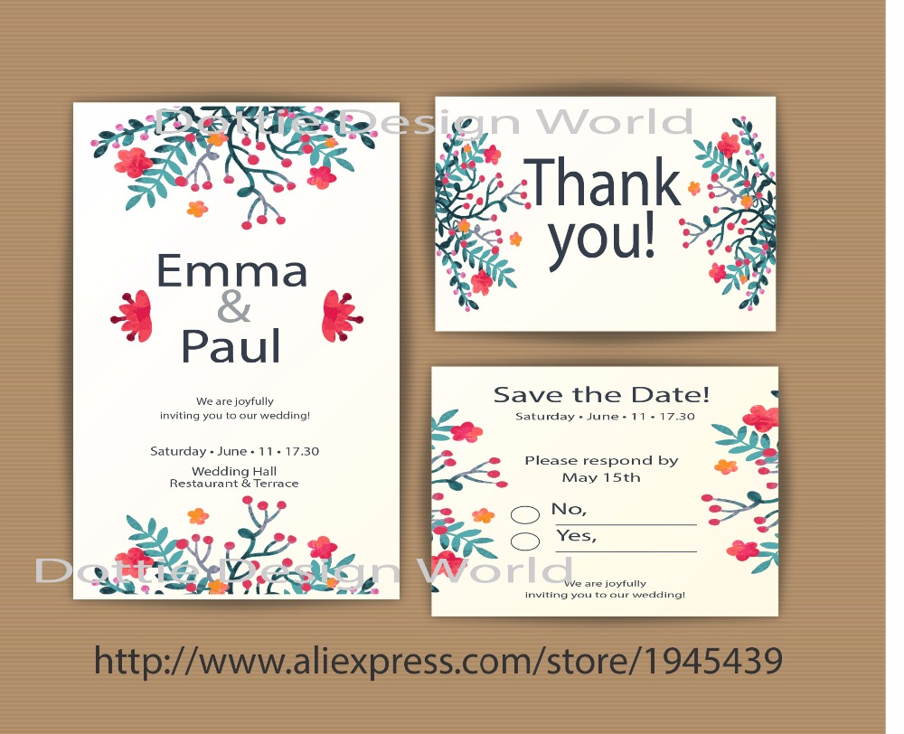 20 Pcs Rustic Wedding Invitation Vintage Save The Date Postcard