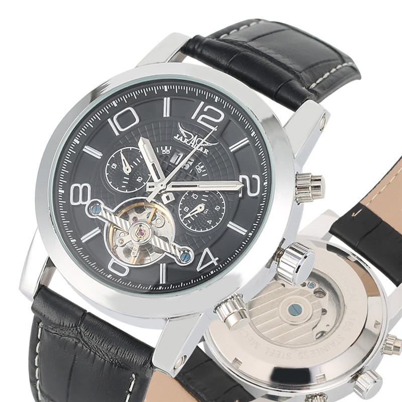 Automatic Mechanical Watches Self Wind for Men Fashion Calendar Mechanical Wristwatch Exquisite Skeleton Mechanical WristwatchesAutomatic Mechanical Watches Self Wind for Men Fashion Calendar Mechanical Wristwatch Exquisite Skeleton Mechanical Wristwatches