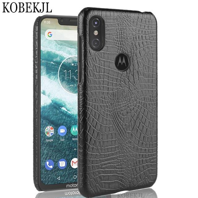 san francisco 7c3e7 ece80 US $3.19 20% OFF|For Motorola Moto One Case Moto One XT1941 Case Hard PU  Leather Back Cover Phone Case For Moto P30 Play P30Play XT 1941 Case 5.9-in  ...