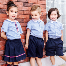 Japanese School Sailor Uniform Fashion Class Navy Uniforms for Boys Girls Suit Stripe Shirt 3 Pcs Set