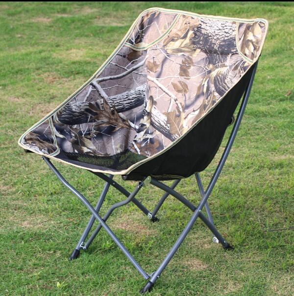 Camuflagem cadeira Dobrável de pesca Ao Ar Livre Confortável respirável Cadeira Lua cadeira do Lazer Cadeira Da Borboleta