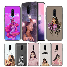 Thank U Next Ariana Grande Soft Black Silicone Case Cover for OnePlus 6 6T 7 Pro 5G Ultra-thin TPU Phone Back Protective