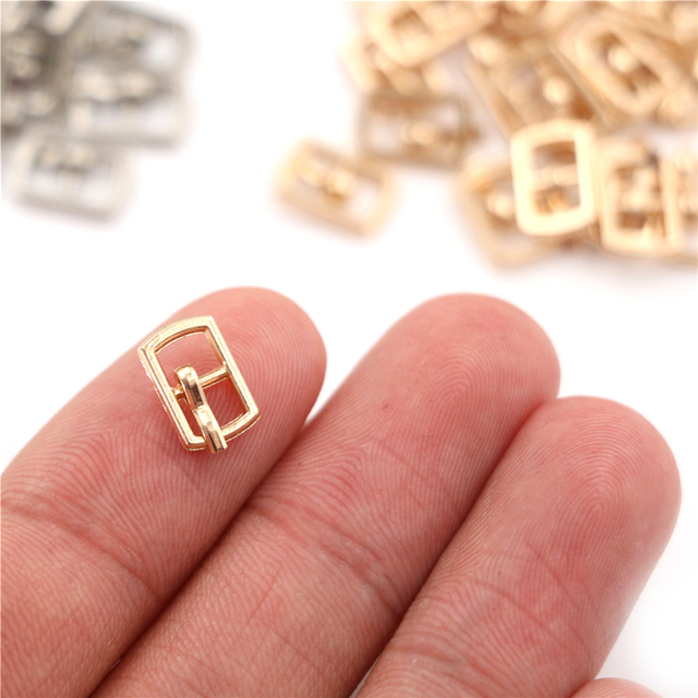 3/10PCS 4.5mm Mini Buckle DIY Patchwork Buckle For Dolls Clothing Adjustable Accessories Handmade Sewing 4
