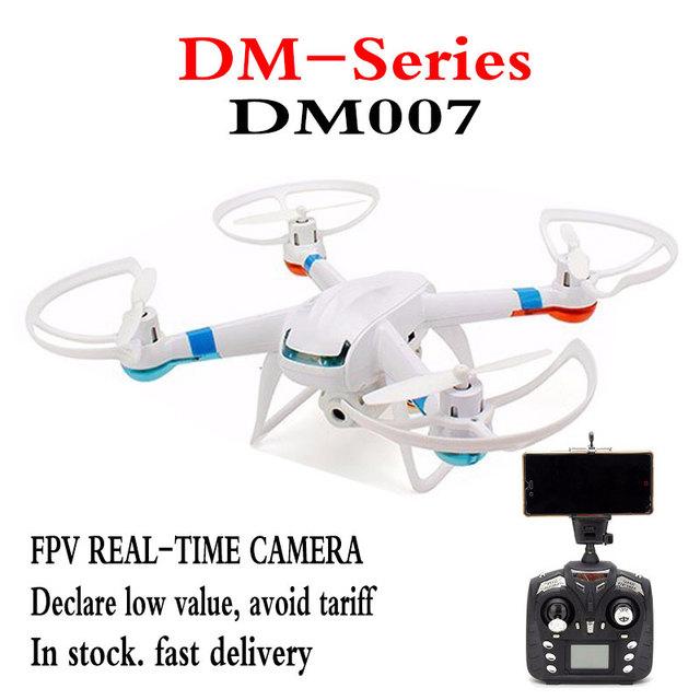 Original DM007 (GW007/GW007-1 Actualización) en Tiempo Real Drone 2.4G 4CH RC Helicóptero Con WIFI FPV 720 P HD Cámara Quadcopter Mode2